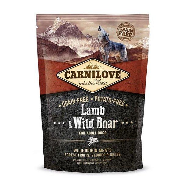 Brit Carnilove adult lam og vildsvin 1,5kg