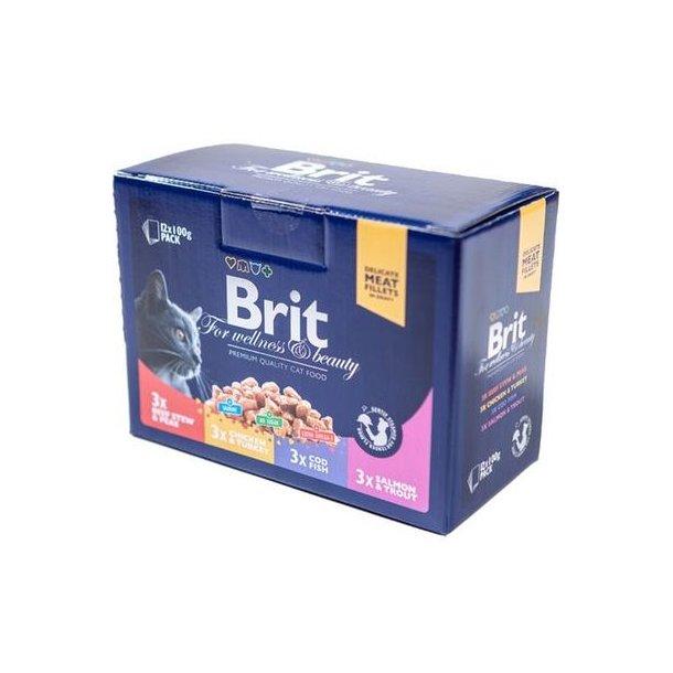 Brit premium cat vådfoder 12x100g