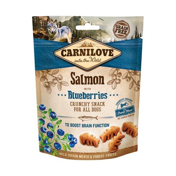 Carnilove Crunchy Snack Laks og Blåbær 200g