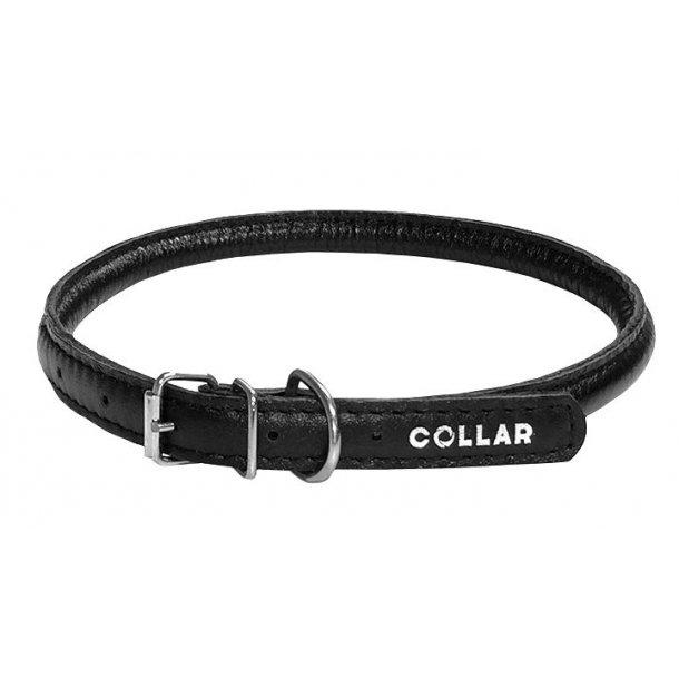 Collar rundsyet halsbånd sort