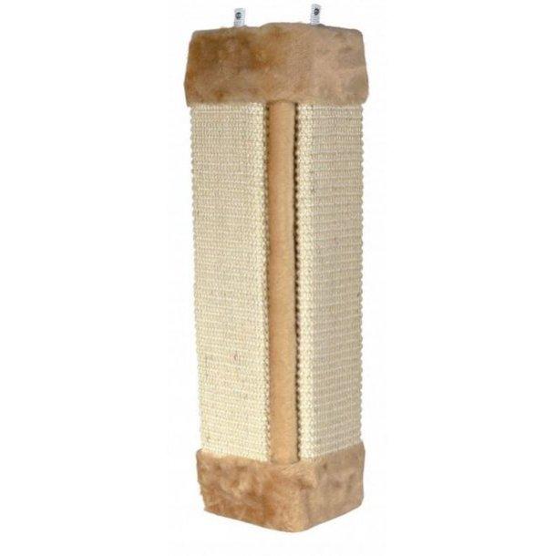 Hjørne kradsebræt med beige plys 49cm