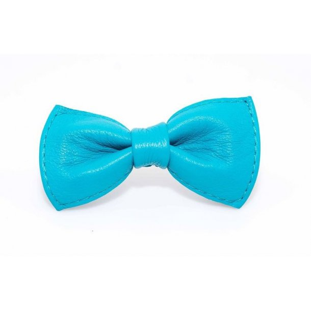 Timely læder butterfly blå 8cm
