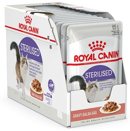 royal canin sterilised 12x85g royal canin v dfoder kat dyrene p torvet. Black Bedroom Furniture Sets. Home Design Ideas