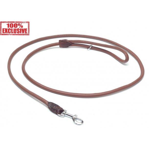 Timely exclusiv rundsyet læder føreline lysebrun 120cm/6mm