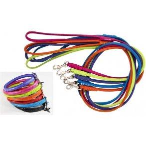 COLLAR rundsyede læderhalsbånd og -liner