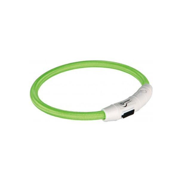 Flash lysring m/USB grøn 45cm