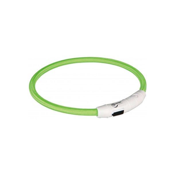 Flash lysring m/USB grøn 65cm