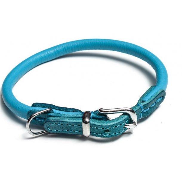 Timely rundsyet læderhalsbånd blåt